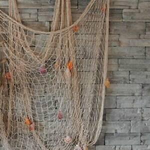 Wandbehang Fischernetz Maritim Strand Urlaub Fischnetz Muscheln Fischernetz Deko