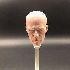 Custom 1/6 Blank Jason Statham Head Sculpt for 12''Hot Toys Muscular Body