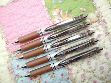 5pcs Pentel retractable Ener Gel BL77 0.7mm roller ball pen Brown(Japan)