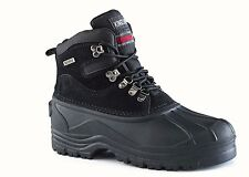 Kingshow Men's 1280 Snow Boots Leather Upper Waterproof