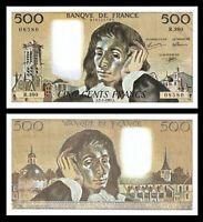 FRANCE 500 Francs,  1968-1993 '  1992 'Pascal'' / Fayette   , P-156, aUNC