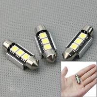 3X Ampoule Feux Navette 3 LED 5050 SMD 36mm Sans Erreur CanBus Plafonnier Plaque