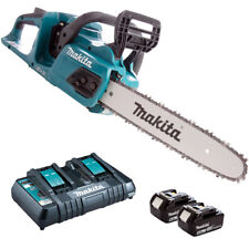 Makita DUC355Z 36V Brushless Chainsaw With 2 x 5.0Ah Battery & Twin Port Charger