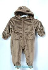 22d8bb89f First Impressions Fuzzy Bunting Snowsuit Hooded w/ Ears Baby boy girl 6 9 mo  NEW