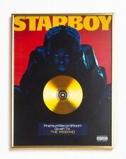 The Weeknd Poster, Starboy  GOLD/PLATINIUM CD, gerahmtes Poster HipHop Rap Art