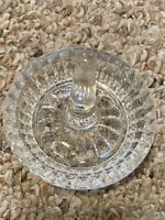 Vintage Ring Holder Hat Clear Glass Cut Round Jewelry Trinket