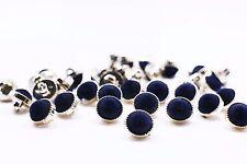Navy Blue Velve Shank Button Small Woman Blouse Shirt Rose Gold Bead 12mm 100pcs
