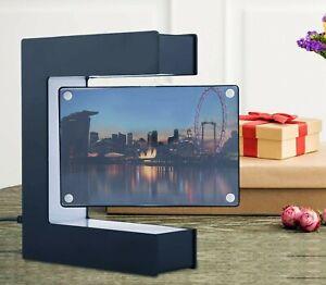 LED Magnetic Levitation Photo Frame Electronic Magnetic E Shape Photo Frame