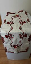 LOVELY QUALITY...TABLE RUNNER..FABRIC..STITCHED...CHRISTMAS DISPLAY....SO PRETTY
