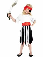 Pirate Girls Costume With Dress and Headband Children Party Fancy Small Age 4 to 6 Years