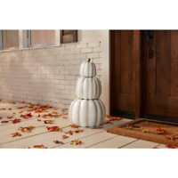 Stacked Pumpkins Decoration 3-Piece 26.5 in. Fall Halloween Hand Painted Indoor