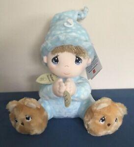 Aurora Precious Moments Prayer Boy Plush Now I Lay Me Down To Sleep Blue 2010
