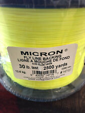 Brand New Cortland Micron Fly Line Backing 2500 yards 30 LB Hi-Vis Yellow