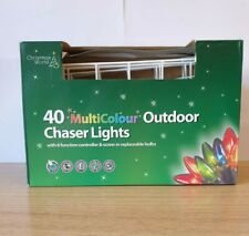 40 Outdoor Multicolour Christmas Chaser Lights