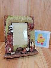 """Golf Picture Frame Holds 3"""" x 5"""" Photo Resin Table Display Bag Shoes Balls Hat"""