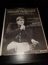 Adriano Celentano Azzurro Sky Rare Original Promo Poster Ad Framed!