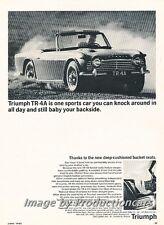 1965 Triumph TR4A TR-4A - Original Advertisement Print Art Car Ad J764