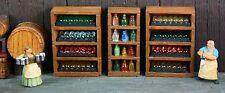 3 Wine Cases with Resin Bottles - 4 Shelves - Works with Dwarven Forge & DnD D&D
