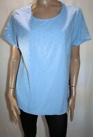 TARGET Brand Blue Broderie Short Sleeve Top Size 20 BNWT #TS78