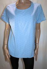 TARGET Brand Blue Broderie Short Sleeve Top Size 20 BNWT #TS78