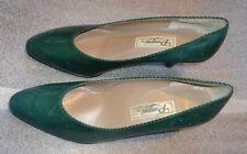 Gettato Rangoni women's Italian green leather high heel shoes size 7 1/2 used
