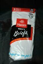 Vintage Hanes Men's Briefs White Underwear 3 Pack sz 44 New 1997