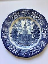 "Avon 1776 Independence Hall 1970 Bicentennial 7 3/4"" Plate"