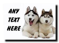 Husky Dogs Personalised Jumbo Magnet