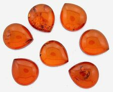 ONE 15x13 15mm x 13mm Pear Natural REAL Baltic Amber Cab Cabochon Gemstone 6637