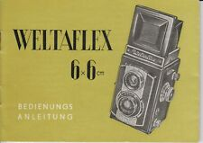 PDF Welta Weltaflex 6x6 cm Kamera Bedienungsanleitung Manual