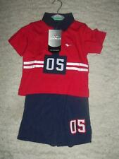 12/2 NEW RED NAVY GOLA 05 BABY BOYS TOP AND SHORT SET 12-18 MONTHS