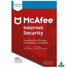 McAfee Internet Security 2018 Unlimited Devices,12 Months Win, Mac, IOS, Android