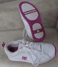 DC Shoes Womens White/Purple Luna Skater Shoes Size 6.5L Style 102874 EUC
