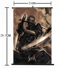 "Hot Japan Anime One Piece Cool Zoro Wall Scroll Home Decor 8""×12"""