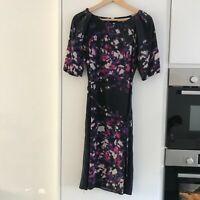 LK Bennett Purple Navy Lettie Dress size 12