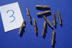 10 vergoldete Laborstecker 4mm Bananenstecker Büschelstecker    #3