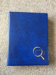 STAMPS COLLECTION IN BLUE ALBUM MANY PAGES WITH 1000'S WORLD COLLECTION MODERN