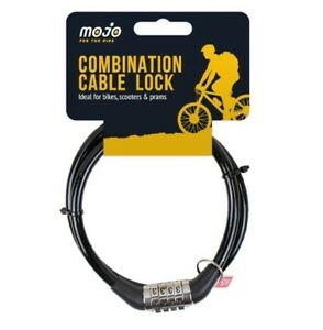4 Digit Combination Cable Lock Bike Bicycle Scooter Prams Chain Gate Baggage BLK