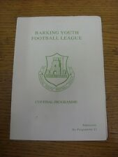 01/04/1993 Barking Youth League U16B Cup Final: Pegasus v Upminster Park Rovers