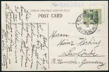 Deutsche Post in China, Postkarte( 29) Tientsin-Lemförde, pracht