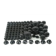 87 pcs Black ABS Bolt Toppers Caps Cover For Harley Softail Twin Cam 1984-2006