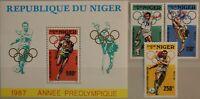 NIGER 1987 1015-17 Block 50 755-758 Summer Olympics 1988 Seoul Olympia MNH