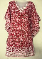 Kaftan Kurta TopCotton Hand Block Night wear Short Maxi Kimono Voile Beach Dress