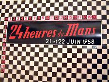 1958 Le Mans Sticker - Jaguar XK120 XK140 XK150 Aston Martin DB3 Porsche 356