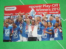 Huddersfield Town FC Multi-Signed x 4 2012 League One Play Off Final Photograph