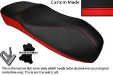 Negro Y Rojo Custom encaja Piaggio Vespa Gt Gts 125 250 300 Curvy Alta doble cubierta
