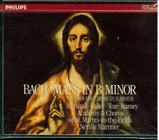 Bach: Mass In B (Messa In Si Minore / Marriner, Marshall, Baker, Tear, Ramey CD