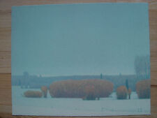 Original RARE signed Russell Chatham - Willows in the Snow 1990