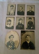 lot of 8 Tintype Pictures Photos