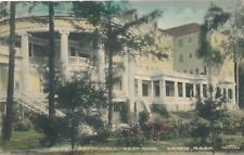 LENOX MA – Hotel Aspinwall West Wing – Hand Colored Postcard - 1910